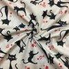 Bavlna kočky na béžové