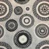 Bavlna režná šedé mandaly 3