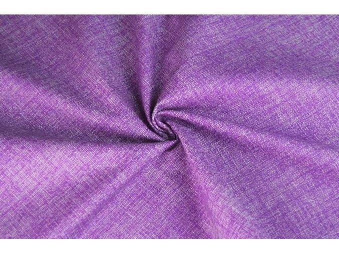Bavlněné plátno fialové melé1