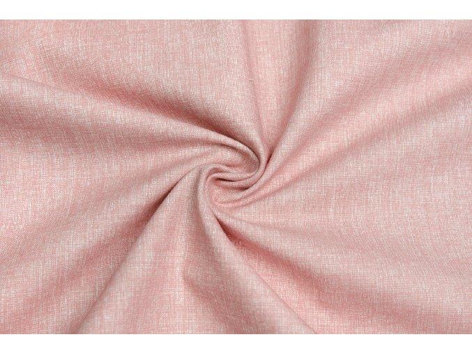 bavlnene platno staroruzovy melir 2