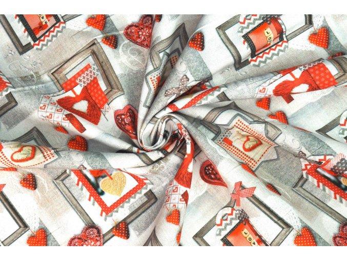 Bavlněné plátno srdce a rámy obrazů3