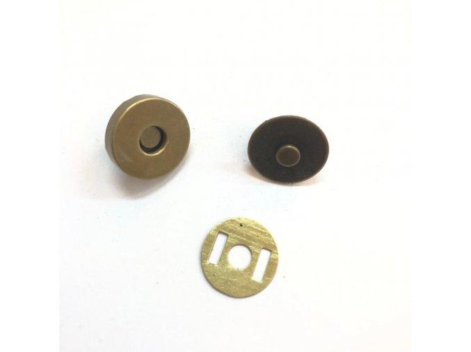 magneticke zapinani prumer 15 mm stribrne staromos
