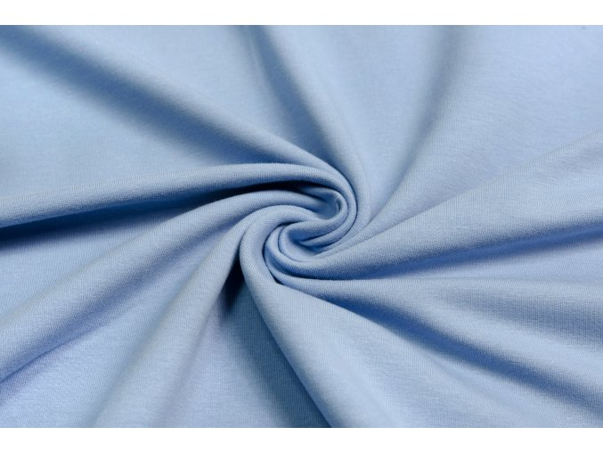 teplakovina elasticka nebesky modra 240 g
