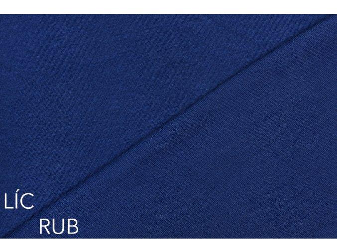 Teplákovina micromodal Monaco modrá