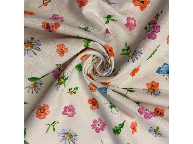 bavlna rezna kvety barevne a motyl