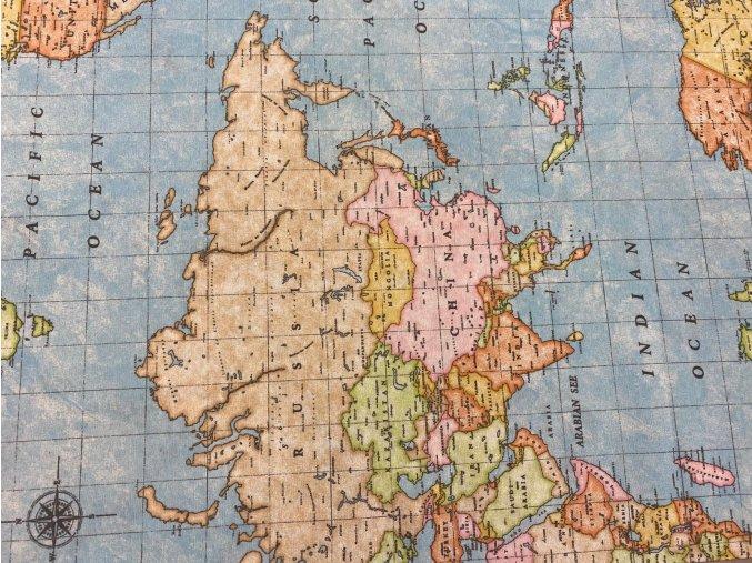 bavlna rezna mapa sveta 1