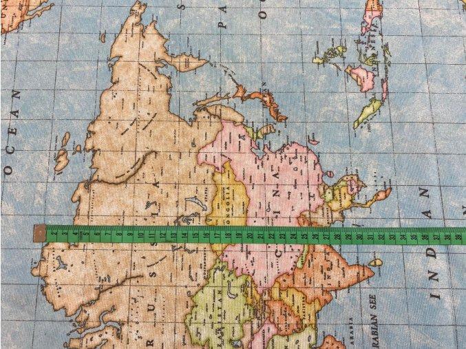 bavlna rezna mapa sveta