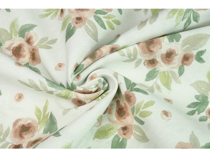 bavlna rezna malovane ruze na prirodni1