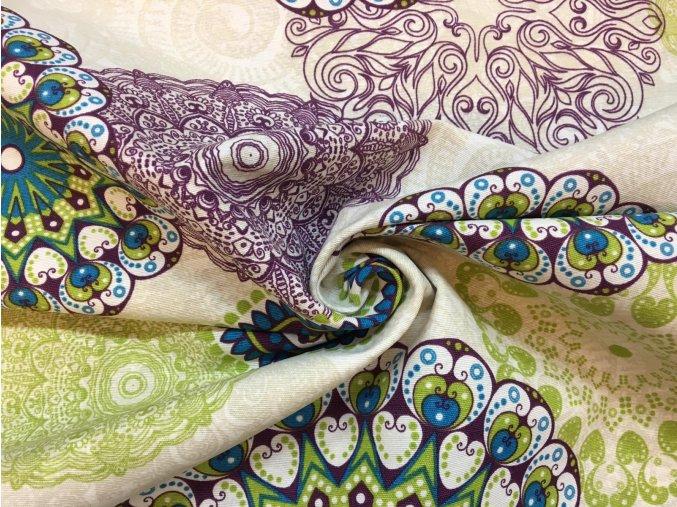 rezna bavlna mandaly zelene2