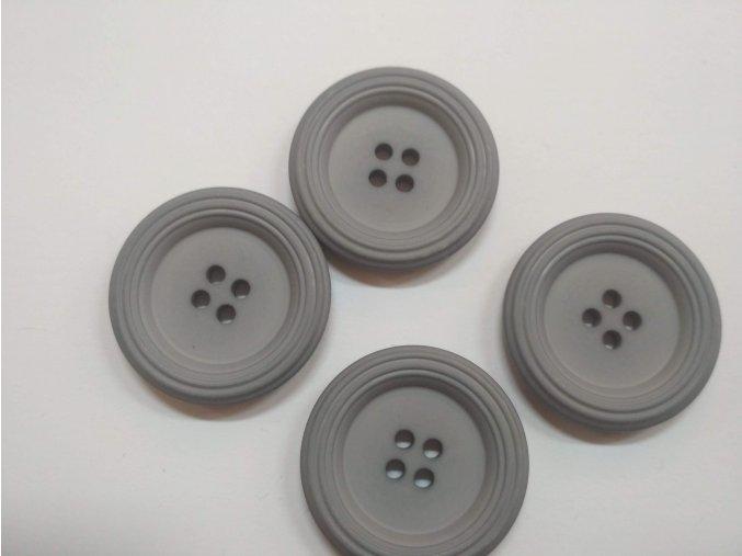 Knoflík čtyřdírkový plastový kabátový 35 mm