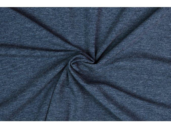 Teplákovina jeans melé 240 g/m2