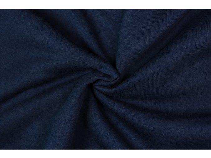 teplakovina pocesana modra navy 280 g m2