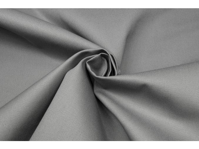 bavlnena tkanina s keprovou vazbou seda