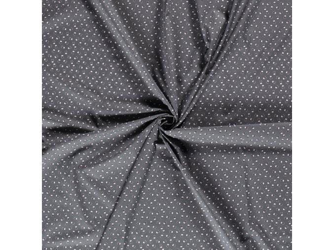 bavlnene platno lebky na sede drobny vzor 1
