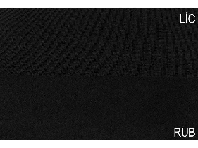 Teplákovina počesaná černá