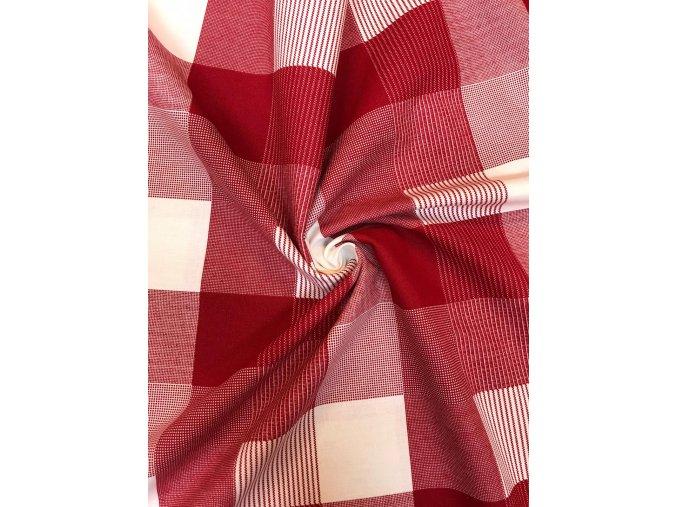 bavlnene platno karo cervene