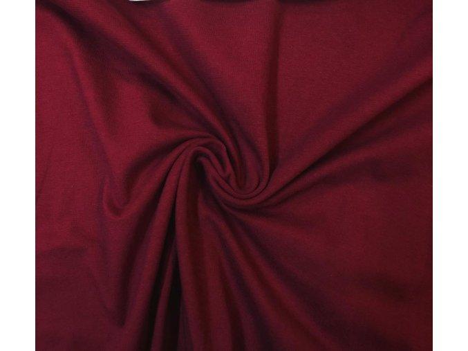 bavlneny uplet elasticky bordo 190g