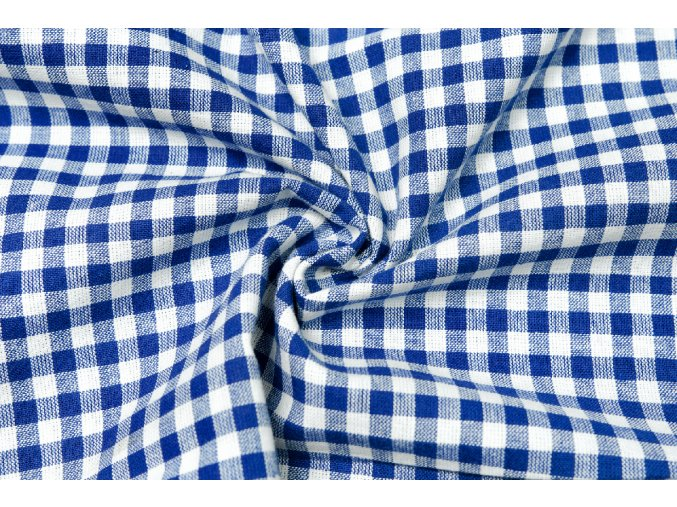 bavlna kosticky modre