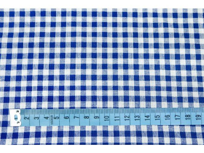 bavlna kostičky modré