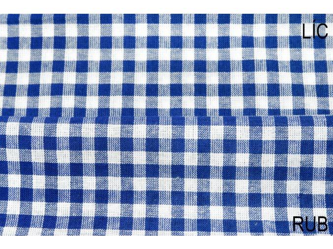 bavlna kostičky modré..