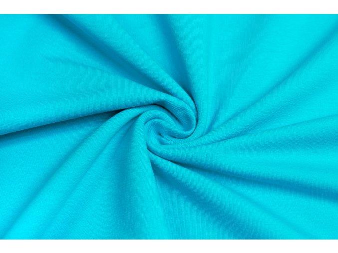teplakovina elasticka bio tyrkysova 250 g m2