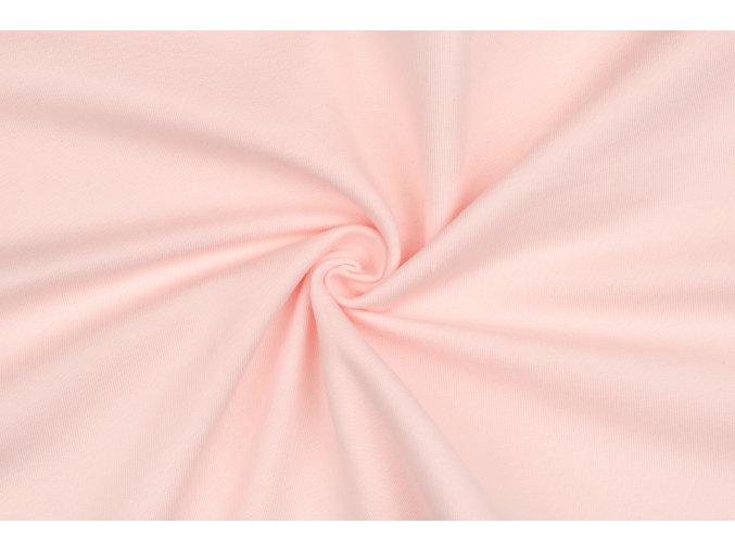 teplakovina elasticka bio blede ruzova 250 g m2