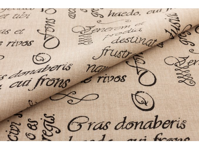bavlnene platno pismo na bezove