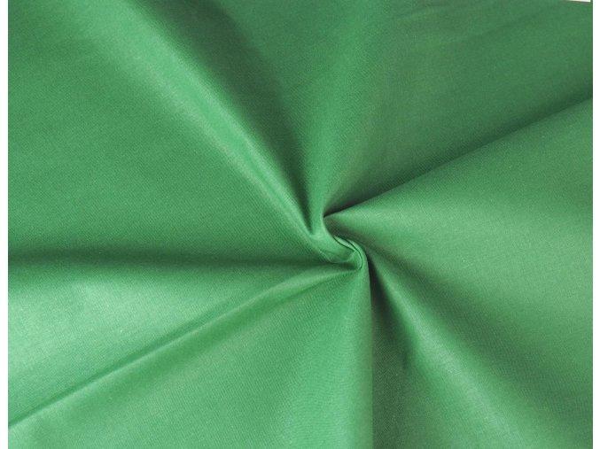 Bavlněné plátno zelené tmavé vánoční1