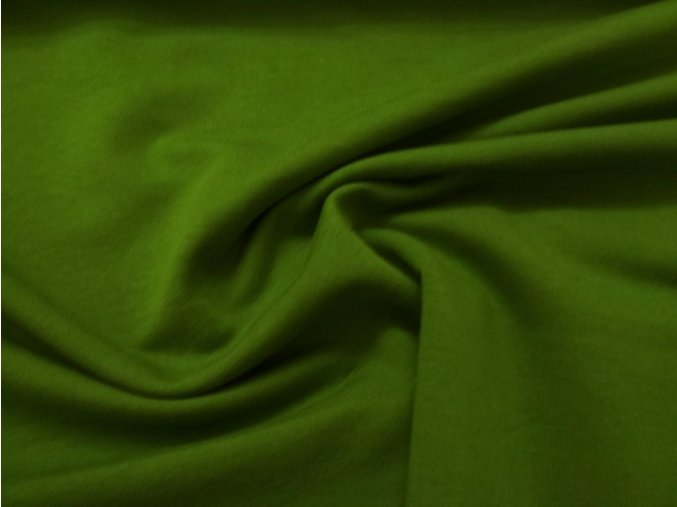 teplákovina elastická zelená