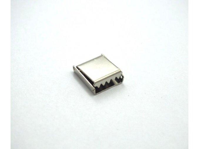 Koncovka kovová na plochou šňůrku 10 mm