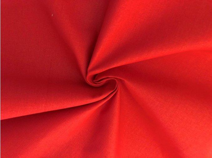 Bavlněné plátno červené 1