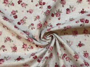 bavlna rezna drobne ruzicky 1