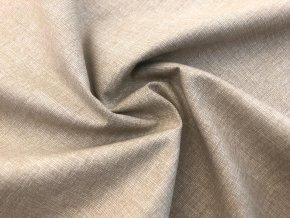 bavlnene platno bezovy melir 21