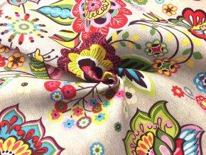 bavlnena tkanina rezna ornamentalni kytky3