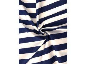 bavlna pruh modrobily 2 cm