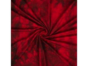 Bambusový úplet rubínová batika 0