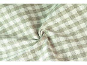 bavlna režná kanafasová kostka béžová2