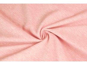 Bavlněný úplet jednolíc elastický růžové melé1