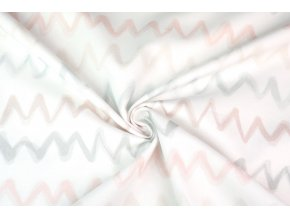 Bavlněné plátno chevron digi tisk