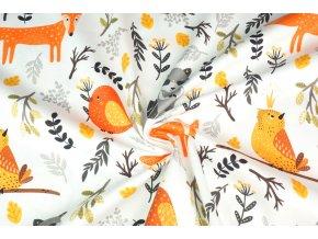 bavlna zvířátka v lese