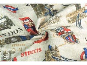 bavlněné plátno režné Londýn