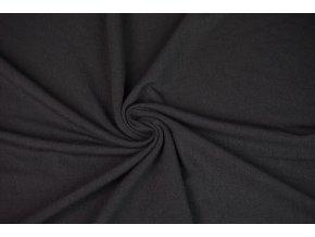 Úplet jednolíc černý 100 % Merino vlna