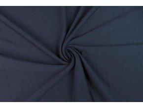Merino vlna úplet jednolíc švestkově modrý