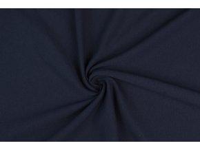 teplakovina elasticka modra navy 240 g