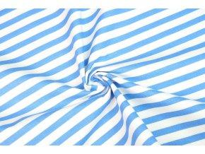 Bavlněné plátno modrobílý prh1