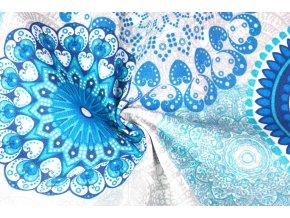 rezna bavlna metraz mandaly modre