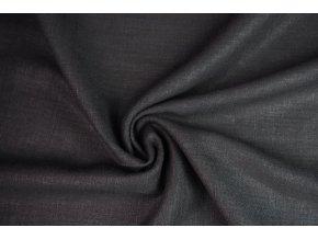 Lněná tkanina černá1