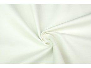 Bílá strečová tkanina kalhotová