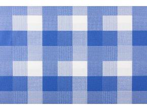 bavlna platno karo modre