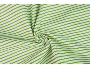 Bavlněné plátno proužky zelené1